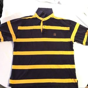 Tommy Hilfiger Men's Yellow Blue  Flag Polo Shirt